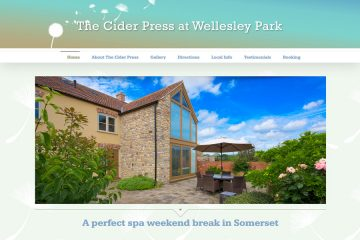 The Cider Press holiday home website